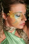 image of pouty lips  - Gorgeous woman in make up - JPG