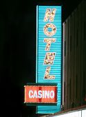 stock photo of keno  - Neon casino and hotel sign - JPG