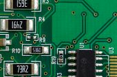 Постер, плакат: Electronic Printed Circuit Board With Electronic Components