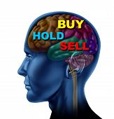 pic of frontal lobe  - brain financial decision to buy sell hold stock market investment choice guidance advisor isolated - JPG