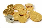 Hanukah Dreidel & Coins