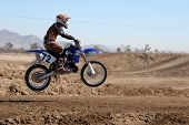 Dirtbikes at the motocross event