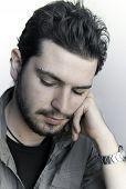 Closeup of a Depressed Teenager