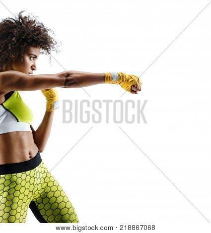 Boxer woman in