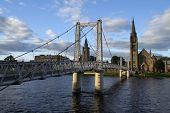 Bridge Over The Ness In Inverness, Scotland
