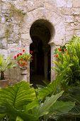 foto of calatrava  - Arab baths in Majorca old city of Barrio Calatrava Los Patios at Palma de Mallorca - JPG