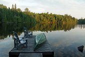 Muskoka Dock at Evening