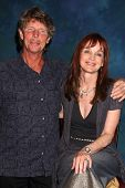 LOS ANGELES - JUL 16:  Eric Shea, Pamela Sue Martin at the Hollywood Show at Burbank Marriott Conven