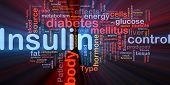 pic of diabetes mellitus  - Background concept wordcloud illustration of insulin diabetes control glowing light - JPG