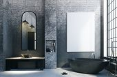 Contemporary Bathroom Interior poster