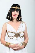 stock photo of cleopatra  - Studio shot of a woman dressed as Cleopatra - JPG