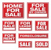 Various Real Estate and Business Signs. Please see my variations on this theme - other vector Real Estate signs.