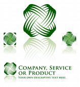 Universal Dynamic Icon Set for Ecology, Recycling, Company, Service or Product.