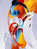 abstract vector graphic, bright background in graffiti poster