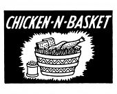 Chicken N Basket - Retro Ad Art Banner