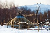 Aboriginals house of northern part of Russia