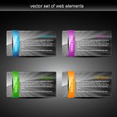 glossy web element display with space for your text