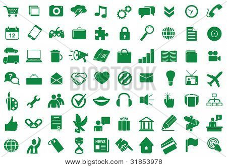 poster of Collection of different icons for using in web and interface design
