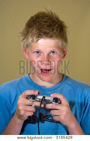poster of Boy Playing A Video Game