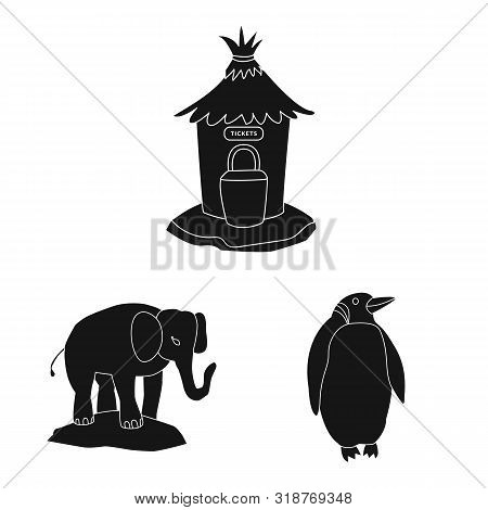 poster of Vector Illustration Of Fauna And Entertainment Symbol. Collection Of Fauna And Park Stock Vector Ill