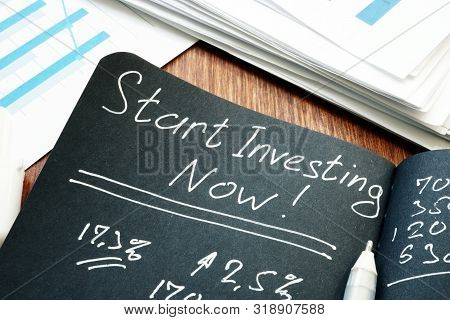 poster of Start Investing Now Sign. Return To Investing Concept.