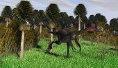 gigantoraptor in jungle