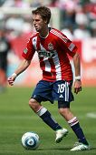 CARSON, CA. - APRIL 10: Chivas USA M Blair Gavin #18 during the Chivas USA vs New York Red Bulls mat