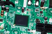 Electronic Circuit Board. Computer Integrated Circuit Board. Detail Of Electronic Circuit Board. Ele poster