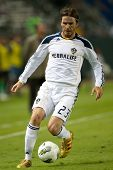 CARSON, CA. - AUG 16: Los Angeles Galaxy M David Beckham #23 during the CONCACAF Champions League game between Club Motagua & Los Angeles Galaxy on Aug 16 2011 at the Home Depot Center.