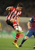 BARCELONA - MARCH, 31: Ander Herrera of Athletic Bilbao in action during the Spanish league match against FC Barcelona at the Camp Nou stadium on March 31, 2012 in Barcelona, Spain