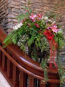 Flower Arrangement By Stairs