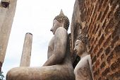 Old City, Sukhothai Historical Park Beautiful Tourist Attraction Old Buddha Statue, Old Pagoda, Old  poster