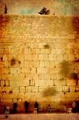 The Jerusalem wailing wall - imitation of an ancient picture