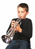 Boy Playing Trumpet