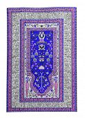 image of tabriz  - Arabian silk carpet on white backgroun - JPG
