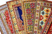 stock photo of tabriz  - Arabian silk carpet - JPG