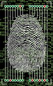 Scanning of a finger print