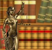 stock photo of figurine  - Lady of Justice - JPG