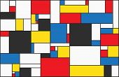 Colorful Background In Mondrian Style. Vector Illustration For Your Graphic Design. poster