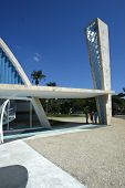 BELO HORIZONTE, BRAZIL - JULY 22: An exterior view of the church of Sao Francisco de Assis is shown July 22, 2005 in Belo Horizonte. Built by Oscar Niemeyer it is also known as the Church of Pampulha.
