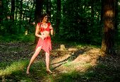 Culture Of Wild Human. Fashion Primitive Design. Female Spirit Mythology. Wild Woman In Forest. Fore poster