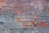 image of hematite  - Industrial extraction of iron ore and technology of loading - JPG