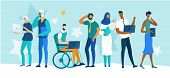 Diverse Multiracial And Multicultural People Of Different Ages And Gender, Healthy And Disabled Char poster