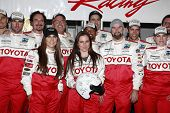 LONG BEACH, CA - APR 3: Kate Del Castillo (front, R) with other celeb racers at the 36th Annual 2012 Toyota Pro/Celebrity Race - Press Practice Day on April 3, 2012 in Long Beach, California