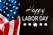 Happy Labor Day Banner, American Patriotic Background - Image poster