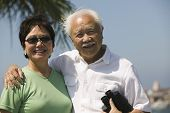 picture of early 50s  - Couple with Binoculars - JPG