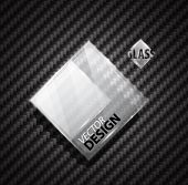 Glass ad square banner on carbon fiber