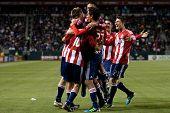 CARSON, CA. - 1 de junio: Chivas USA celebran un gol durante el partido de la MLS entre Vancouver Whitecaps &