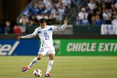 CARSON, CA. - JUNE 6: Honduras M Edder Delgado #23 during the 2011 CONCACAF Gold Cup group B game on