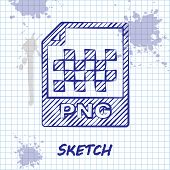 Sketch Line Png File Document. Download Png Button Icon Isolated On White Background. Png File Symbo poster